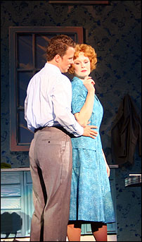 Will Chase and Kate Baldwin in <I>The Pajama Game</I> at the Muny.