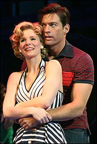 Kelli O'Hara and Harry Connick, Jr. in <i>The Pajama Game</I>.