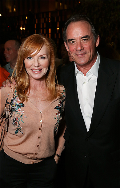 Marg Helgenberger and Tom Irwin