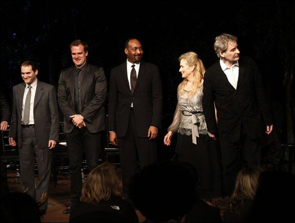 Michael Stuhlbarg, David Harbour, Jesse L. Martin, Meryl Streep and Kevin Kline