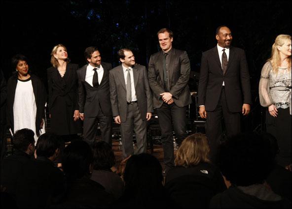 Phylicia Rashad, Christine Baranski, Raul Esparza, Michael Stuhlbarg, David Harbour, Jesse. L. Martin and Meryl Streep