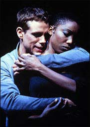 Adam Pascal, with Heather Headley, in <i>Aida</i>