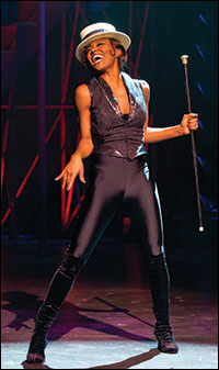 Patina Miller in <i>Pippin</i>.