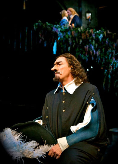 Patrick Page with Brendan Griffin and Dana Green in Cyrano de Bergerac at San Diego's Old Globe, 2009