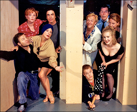 Patti LuPone and the cast of Noises Off (2001)