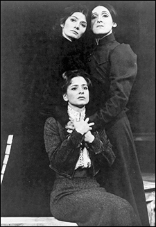 Patti LuPone (seated), with Mary Joan Negro and Mary Lou Rosato, in The Three Sisters for The Acting Company (1973)