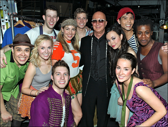 Paul Shaffer and cast