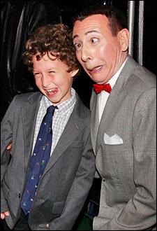 Paul Reubens and young fan Ben Kaplan