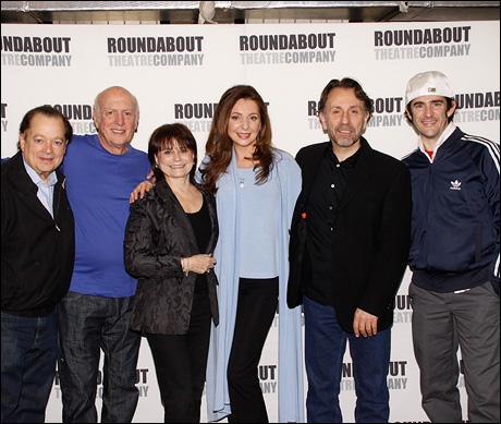 Artie Butler, Mike Stoller, Iris Rainer Dart, Donna Murphy, Leonard Foglia and Andy Blankenbuehler