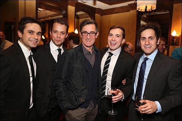 Edward Tournier, Benjamin Schrader, Roger Rees, Joey deBettencourt and Carl Howell