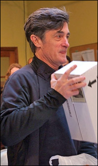 Roger Rees on the first day of rehearsal at New York Theatre Workshop.