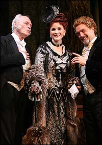 From Left: David Cryer, Anne Runolfsson and original cast member George Lee Andrews in <I>The Phantom of the Opera</I>.
