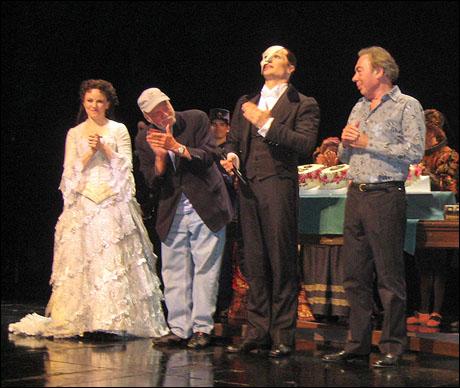 Jennifer Hope Wills, Harold Prince, John Cudia and Andrew Lloyd Webber