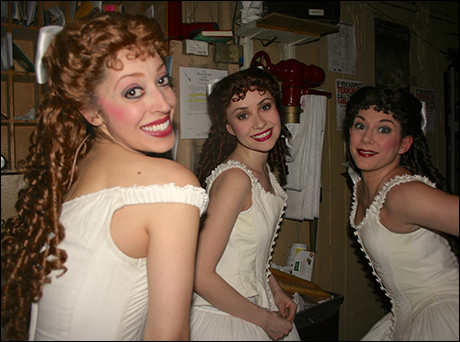 A trio of beautiful ballerinas: Carly Blake Sebouhian, Aubrey Morgan and Amanda Edge.