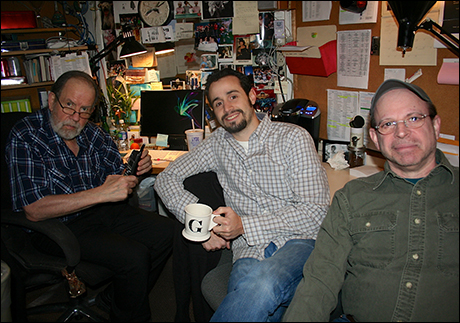 Some of the lovely stage management team (Craig Jacobs, Greg Livoti and Andrew Glant-Linden)