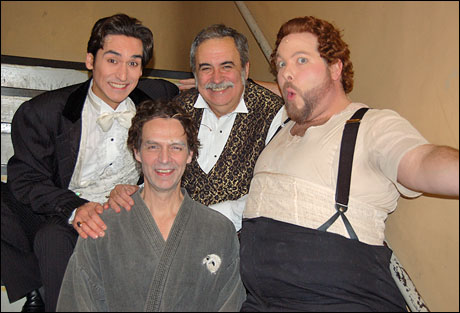 Hanging out before the dressing room scene with John Kuether, Ken Kantor and Evan Harrington.