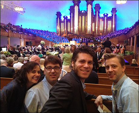 At the Mormon Tabernacle Choir. Bryn Terfel was the guest singer. With Christianne Tisdale (Madame T) , Darren Cohen (Musical Director) and Michael Jablonski (Grantaire)