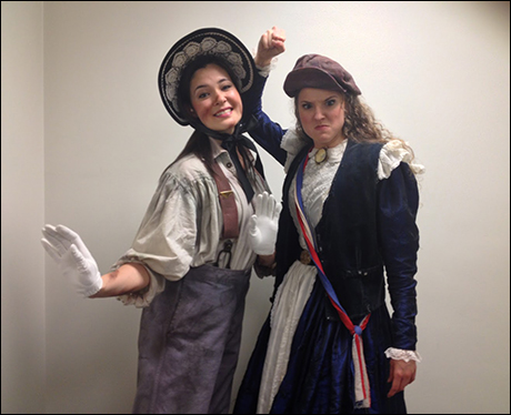 Trading Places - Manna Nichols (Episette) and Melissa Mitchell (Coponine) trade parts, if only for a brief moment.