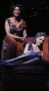 Leslie Uggams and Laura Osnes in <i>Pipe Dream.<i>