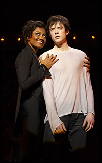Patina Miller and Matthew James Thomas in <i>Pippin</i>.