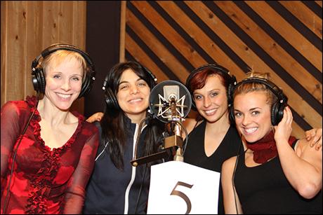 Charlotte D'Amboise, music supervisor and arranger Nadia DiGiallonardo, Olga Karmansky and Viktoria Grimmy