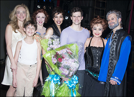 Rachel Bay Jones, Ashton Woerz, Charlotte d'Amboise, Ciara Renée, Kyle Dean Massey, Annie Potts and Colin Cunliffe