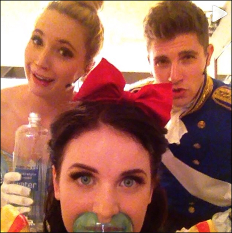 Lindsay, Molly and Curt Hansen (Prince Charming, Prince Phillip) The best vocal warm up, Steaming, Water, and smoldering looks.