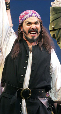 Andrew Varela plays The Pirate King at Goodspeed's <i>Pirates of Penzance</i>.