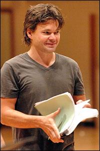 Hunter Foster rehearses