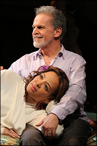Lauren Valez and Tony Plana