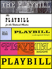 Playbill logos through the years
