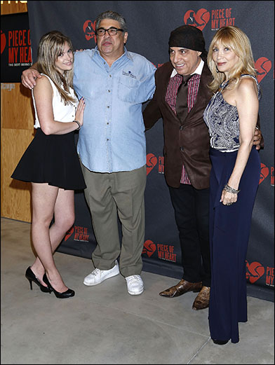 Vincent Pastore and guest with Steven Van Zandt and Maureen Van Zandt
