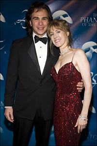 Kevin Gray and wife Dodie Pettit at the Jan. 26 <i>Phantom of the Opera</i> anniversary celebration.
