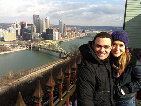 Pittsburgh! Emily Afton and I at the top of Duquesne Incline!