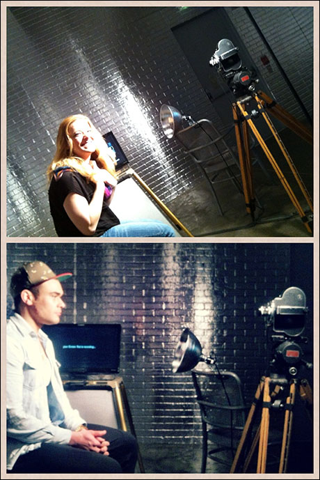 "In Pittsburgh we went to the Andy Warhol Museum. Emily Afton and I did screen tests in ""The Factory."""