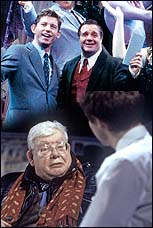 Top: Lee Evans and Nathan Lane in <i>The Producers</i>, Bottom: Richard Griffiths in <i>The History Boys</i>