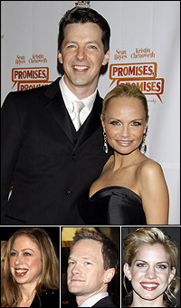 <i>Promises, Promises</i> stars Sean Hayes and Kristin Chenoweth; guests Chelsea Clinton, Neil Patrick Harris,