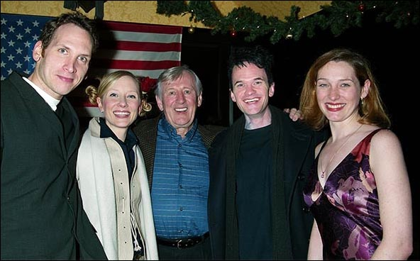 2003: Stephen Kunken, Anne Heche, Len Cariou, Neil Patrick Harris and Kate Jennings Grant at the Proof closing night party.