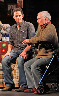 Santino Fontana and Yusef Bulos in <i>Sons of the Prophet</i>.