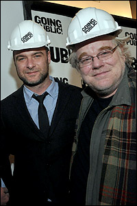 Liev Schreiber and Philip Seymour Hoffman