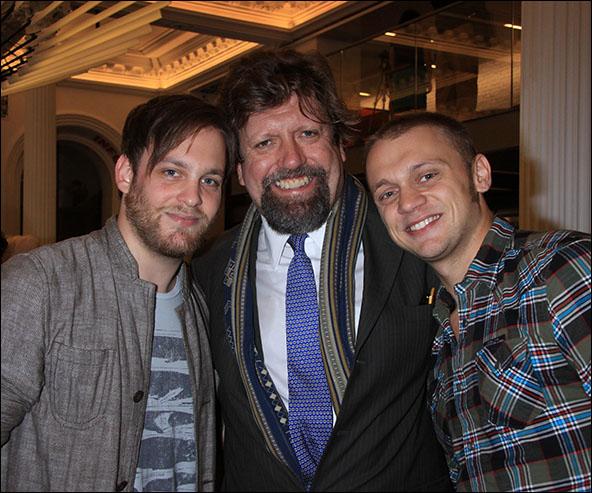 Theo Stockman, Oskar Eustis and Matt DeAngelis