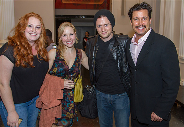 Giant cast members Katie Thompson, Marissa McGowan, Jon Fletcher and Enrique Acevedo