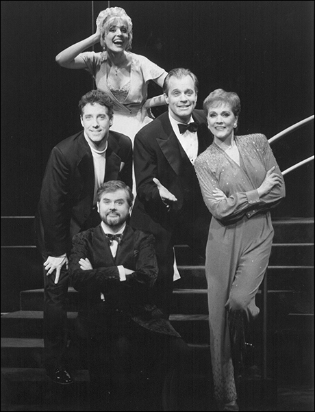 Rachel York, Stephen Collins, Julie Andrews, Chris Durang and Michael Rupert in Putting It Together, 1993