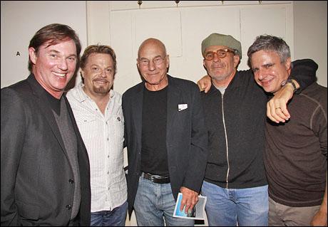 Richard Thomas, Eddie Izzard, Patrick Stewart, David Mamet and Neil Pepe