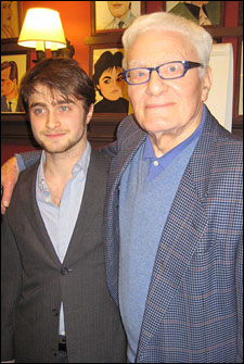 Daniel Radcliffe and Equus playwright Peter Shaffer