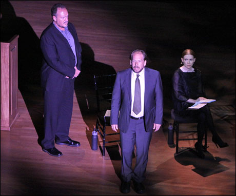 Brent Sexton, Bill Camp and Mireille Enos