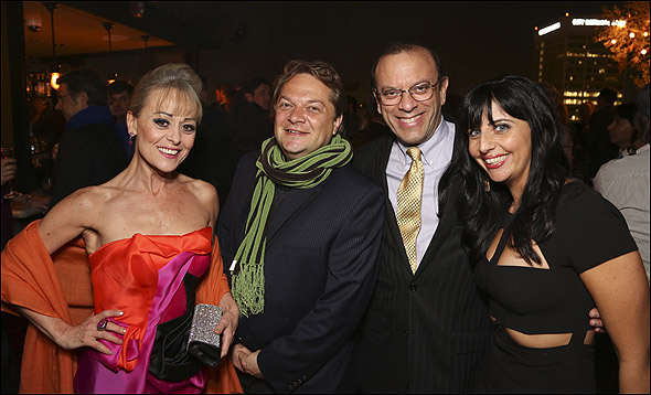 Tracie Bennett, Peter Quilter, Joey Parnes and S.D. Wagner