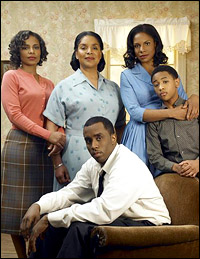 Sanaa Lathan, Phylicia Rashad, Sean Combs, Audra McDonald and Justin Martin in the Emmy-nominated