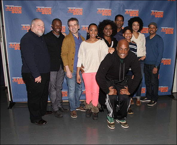 The cast with Kenny Leon