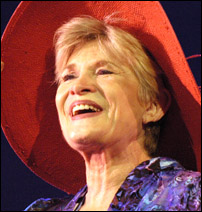 Teri Ralston in a recent production of <I>Hats!</I>